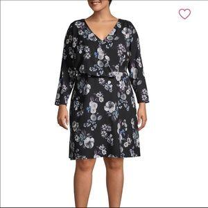 NWOT Adrianna Pappel Faux Wrap Floral Dress